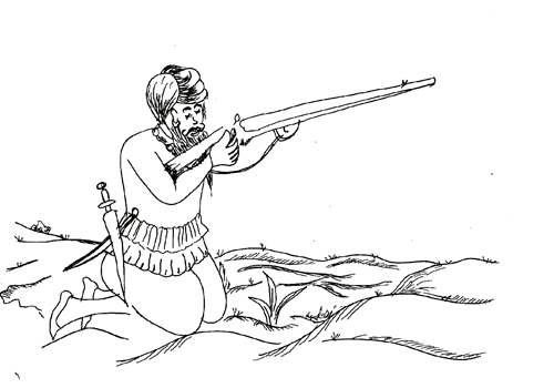 battle of lohgarh lohgarh trust Turkey Rifle sikhs firing muskets on mughals